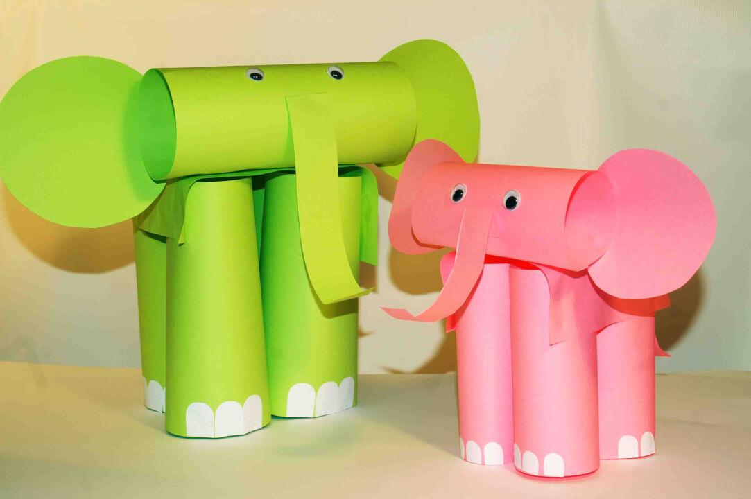 Бумажный слон магазин открыток